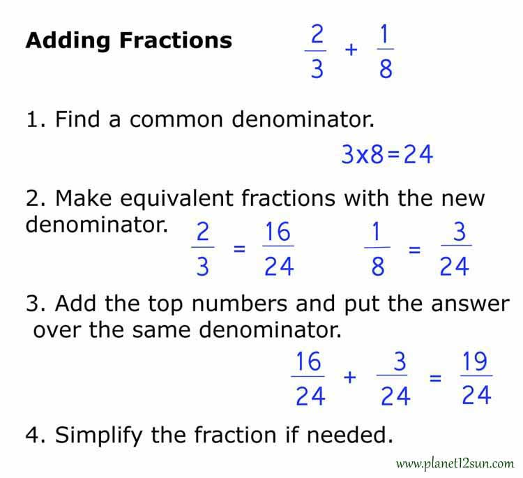 Fractions make equivalent fractions with the new denominator 3 subtract the top numbers numerators and put the answer over the same denominator ccuart Gallery