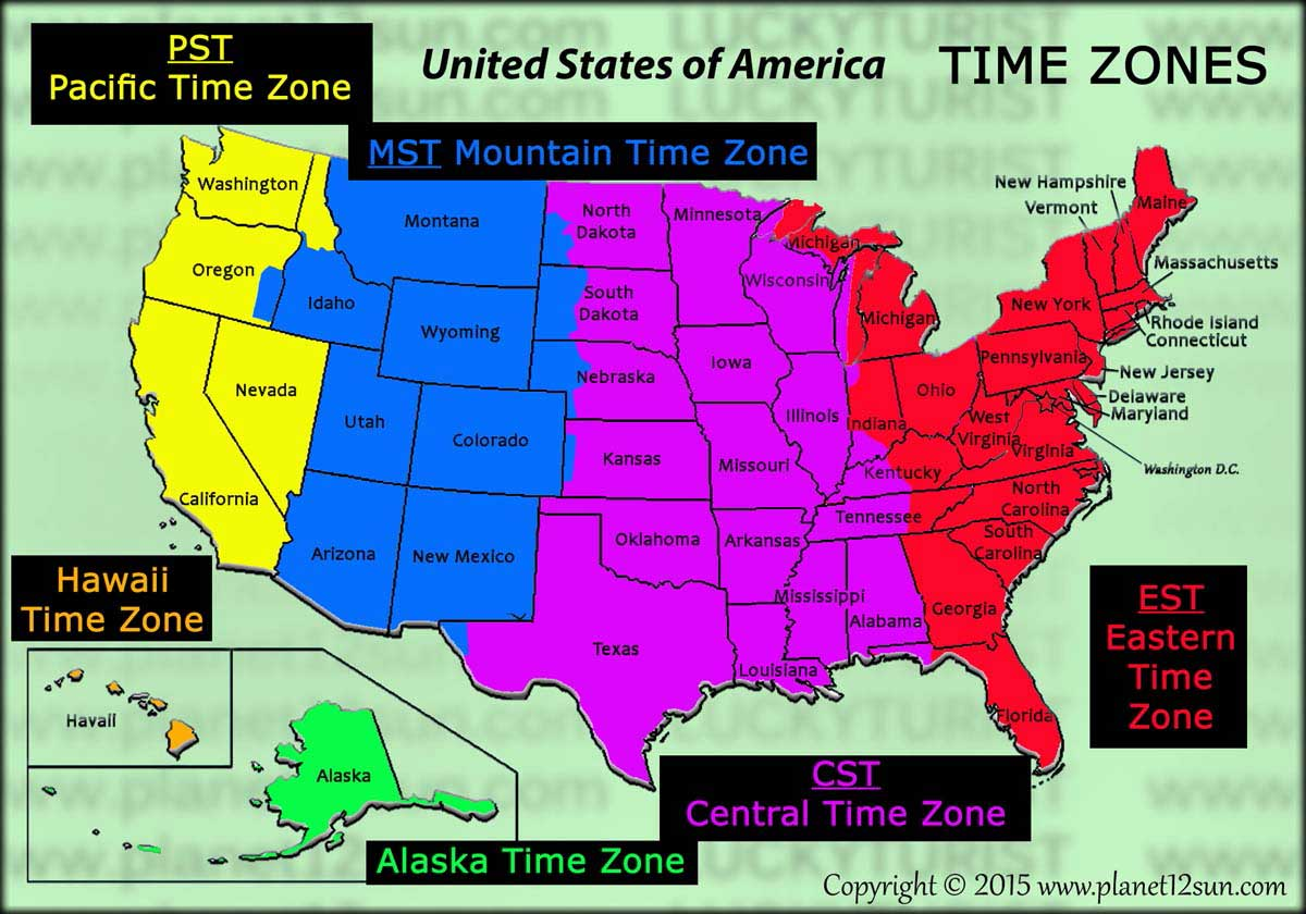 Printable Us Time Zone Map Time Zones Map Usa Printable Time - Usa time zone map with states printable