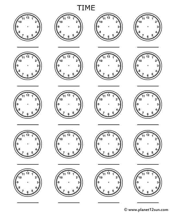 Time Worksheets For Kids on Pattern Worksheets For Second Grade