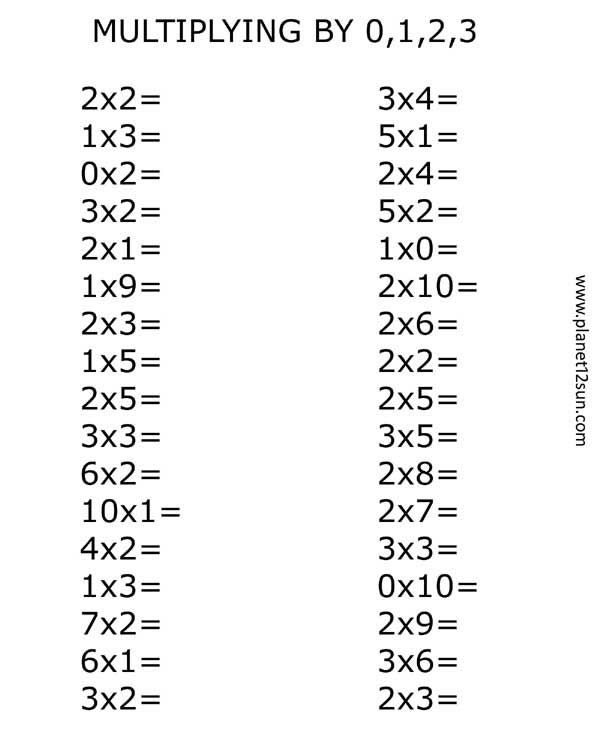 0 And 1 Multiplication Worksheets & worksheet 612792 2 by 2 ...