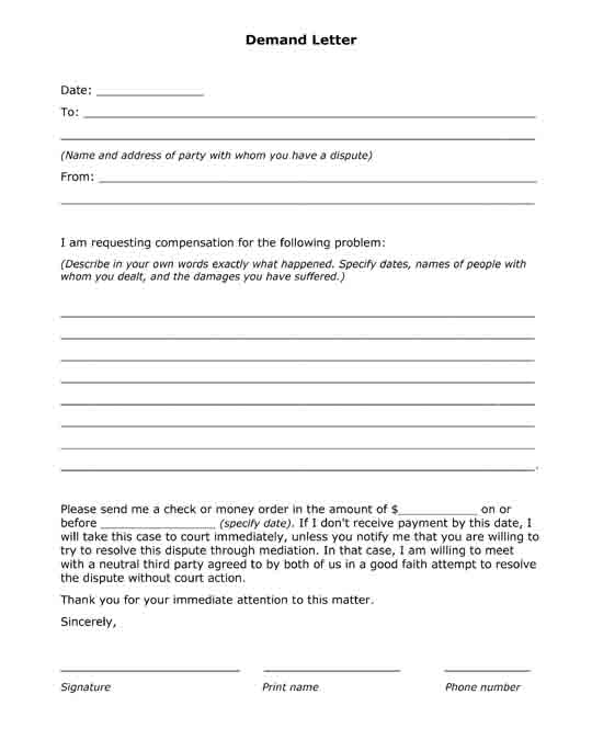 Free Printable Legal Forms