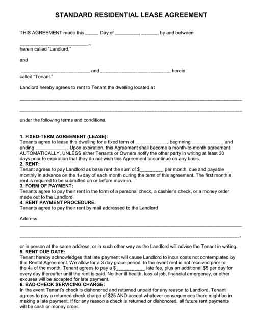 Free Printable Legal Forms - Standard legal forms