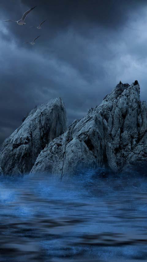 Rocks Ocean Wallpaper Phones Planet12suncom Printables