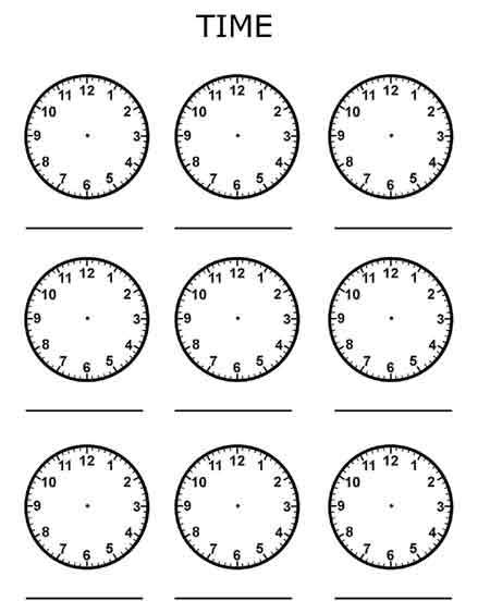 Time Worksheets free telling the time worksheets : Free printables for kids